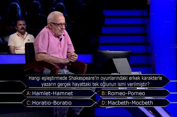 Hangi eşleştirmede Shakespeare'in oyunlarındaki erkek karakterle yazarın gerçek hayattaki tek oğlunun ismi verilmiştir?
